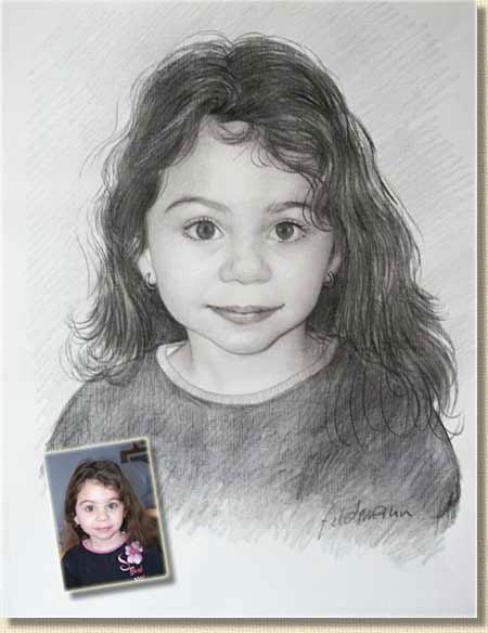Portraits Au Crayon